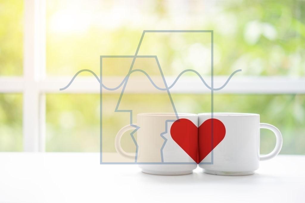 دو لیوان با قلب